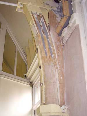 Decorative arch in a church building repaired using Structural Epoxy Resin